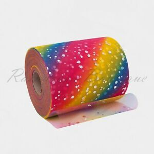 "Tutu Tulle Rolls 6"" x 100 yards Peacock & Rainbow Polyester Netting Craft Fabric"