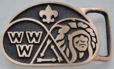 Boy Scout Order of the Arrow OA Vigil Uniform Belt Buckle Badge BSA Merit MGM