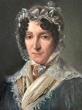 portrait de femme en huile sur toile vers 1830 d'après Boilly