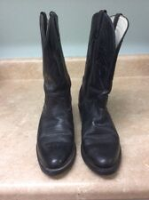 DURANGO COWBOY Boots Men's 9D Black Cowboy Western Leather Work Riding COUNTRY