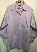 Arrow Mens Clothing Long Sleeve Classic Button Down Dress Shirt Lavender Size L
