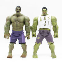 Marvel Series Hulk Real Clothes Version PVC Action Figure Collectible Model Toy