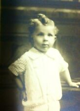 RPPC Crazy Looking Kid Check Out The Victorian Hair Do!