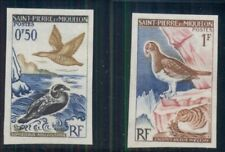 ST. PIERRE & MIQUELON 362-3 BIRDS, SCARCE IMPERF OG, LH