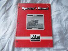 Massey Ferguson MF860 MF 860 combine operator's manual with wiring diagrams