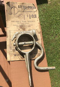 ANTIQUE LITTLE QUEEN HAMMER CLAW FENCE STRETCHER WIRE SPLICER FENCING VTG TOOL