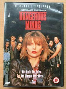 Dangerous Minds DVD 1995 Inspirational Teacher Drama Movie w/ Michelle Pfeiffer