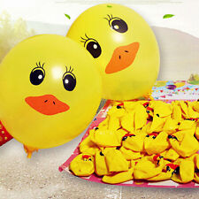 10pcs Yellow Duck Ballons Cute Cartoon Christmas Kids Party Supplies 12'' Ballon