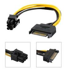 15pin SATA Power to 6pin PCI-E Express Adapter Cable Graphics Card bitcoin