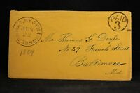 (West) Virginia: Berkeley Springs 1850s Stampless Cover, Black Circled PAID 3