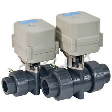 "HSH-Flo 1"" DN25 2 Way 12V/24V PVC Normally Closed Motorized Electric Ball Valve,"
