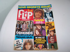 Flip Magazine March1973 Love Secrets David Osmonds Gray Bobby Sonny Cher