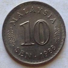 Malaysia 10 sen 1988 coin (A)