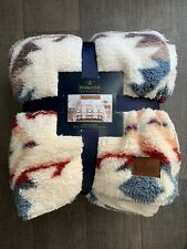 Pendleton Home Collection White Sands Sherpa Fleece Blanket, Queen Size