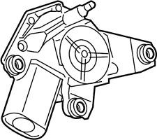 Nissan/INFINITI 28710-4BA0C Back Glass Wiper Motor (Rear).