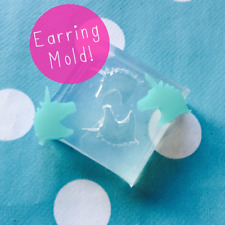 Silicone Earring Unicorn Mold  - Earrings Resin Crafter Mould Stud jewellery