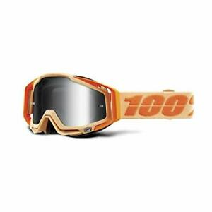 100% RACECRAFT Goggle Sahara Orange Tan Mirror Silver Lens MTB MX