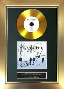 GOLD DISC WESTLIFE Where We Are Signed Autograph Mounted Print A4 182