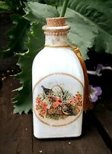 Shabby chic bathroom bottle, apothecary bottle, handmade - Floral birds