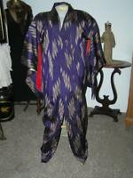 Vintage Japanese  Kimono Silk Robe Purple Dress size S