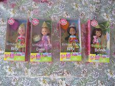 Mattel Kelly Club BIRTHDAY PARTY KELLY DOLLS-Lot of 4-2002 New