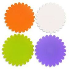 Silicone Coaster 4 Set Flower Cup Mat Drink Pad Coffee Tea Shield Multi-Color