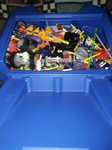 A large Kinex Job Lot With a hard plastic storage case various mixed pieces
