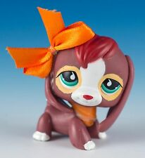 Littlest Pet Shop Beagle #849 Brown With Aqua Green Eyes and Red Hair