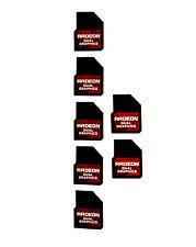 ATI AMD Radeon dual Graphics Sticker 7x Stück pcs Aufkleber Laptop Label logo