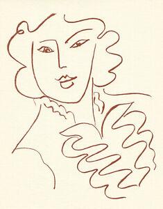 Henri Matisse lithograph from Florilege des amours de Rosnard 9892715