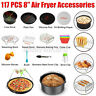 117X Zubehör Set Für Heißluftfritteuse Fritteuse Airfryer Heißluftofen Backform