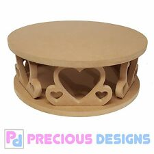 Circular heart cake stand Wedding Party Display Anniversary celebration wood