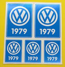 VW 1979 VOLKSWAGEN Year Date stickers INSIDE GLASS BEETLE BAY WINDOW CAMPER