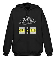 DRUM & BASS DJ HOODY - Dub Step Rave Dubstep T-Shirt Techno - Sizes S to XXL