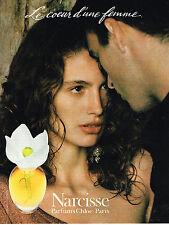 PUBLICITE ADVERTISING 034   1992   CHLOE  parfum NARCISSE