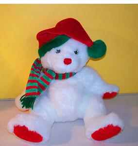 "TY~12"" Snow White Christmas Teddy Bear Soft Lovey~ Plush Stuffed Animal"