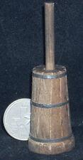 Dollhouse Miniature Butter Churn 1:12 Weathered #WO1921 Farm Kitchen Milk Cow