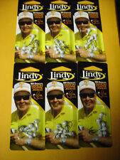 Six Cards Of 6=36 1/16 Oz White Lindy Bill Dance'S Dancin' Crappie Jigheads