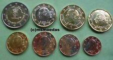 Belgien 8 Euromünzen von 1 Cent - 2 Euro Elizabeth 2012 Euro KMS coins moedas