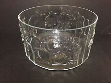 Large ARABIA Flora Glass Fruit Bowl by Oiva Toikka for Iittala Finland