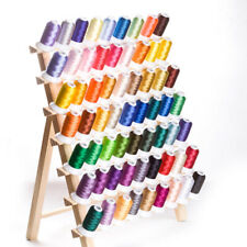 120Spool Thread Rack Wood Sewing Stand Organizer Craft Embroidery Storage Holder
