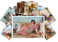 Postcards Pack [24 cards] Antique Roman Greek Lady Portrait Vintage CD3008