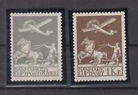 BG5889/ DENMARK – AIRMAIL – MI # 180 / 181 MINT MH CERTIFICATE – CV 415 $