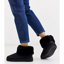 UGG Fluff Mini Quilted Black Boot Women's US size 7