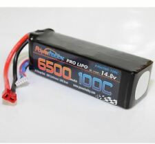 Power Hobby - 6500mAh 14.8V 4S 100C LiPo Battery with Hardwired T-Plug Connector