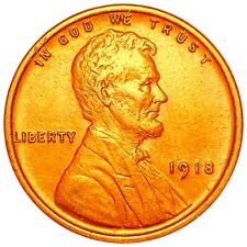 1918 Lincoln Wheat Penny, High End 1c Copper Collectible Must Have Cent No Res!
