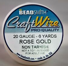Beadsmith Craft Wire Pro Quality Rose Gold 20 Gauge 6 Yards