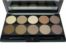 W7 10 Out of 10 Eyeshadow Palette Kit NUDE gamma Marrone