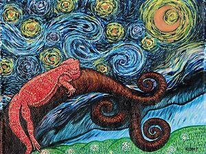 Beardie Night Print 16X20 signed by artist