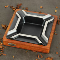 CIGARISM High-end Large Square Merbau Zinc Alloy Cigar Ashtray Decoration